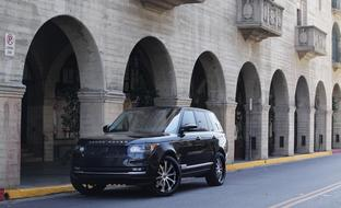 "The 2013 Range Rover with machine face and black LR-707 24"" wheels."