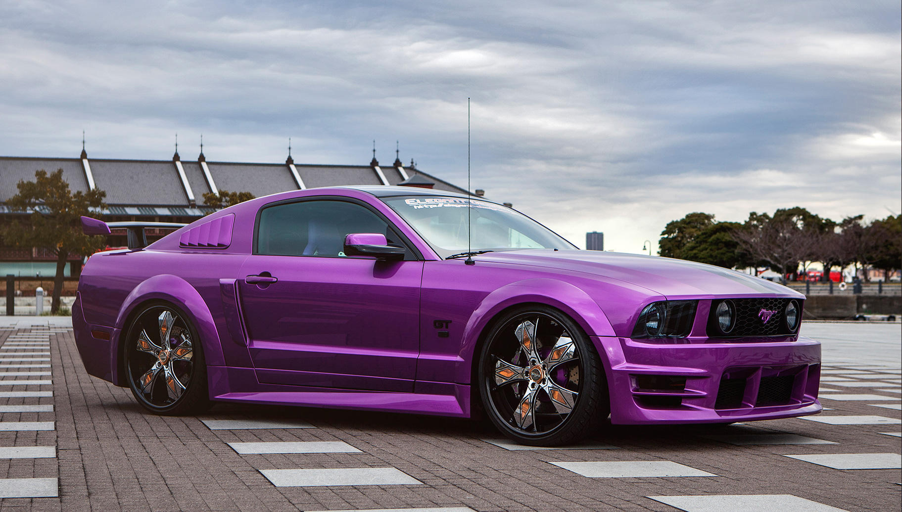 custom aries on the ford mustang - Mustang 2014 Purple