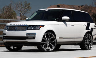 The 2014 Range Rover with machined/black Lust rims.