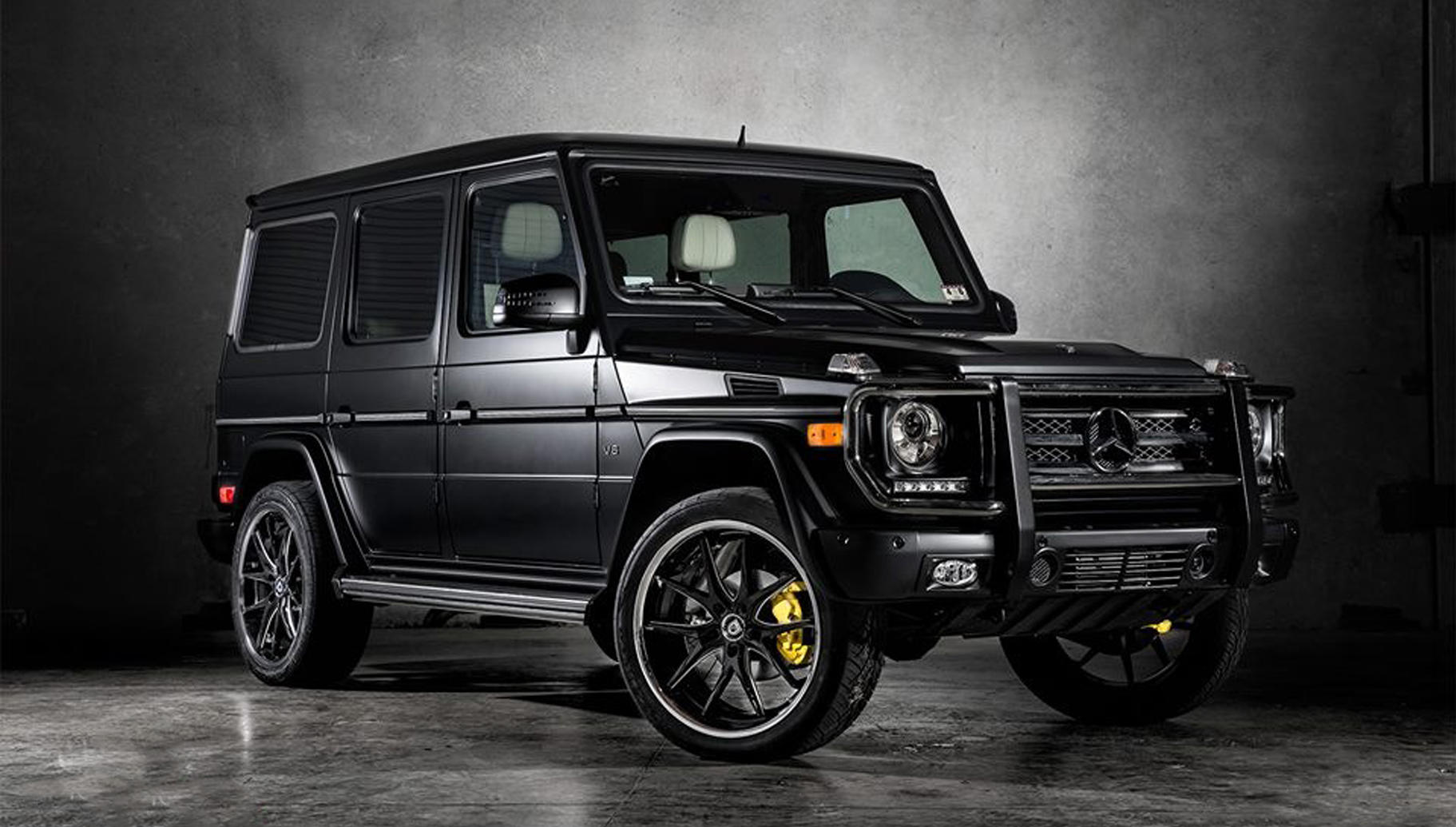 mercedes g wagon with a bgs finish on the r twelve