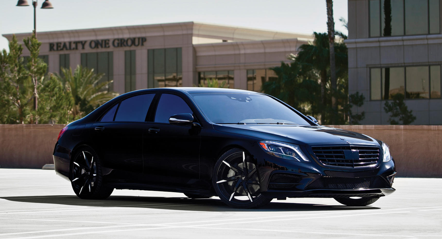 All Black With Brushed Tips, On The 2014 Mercedes S550.