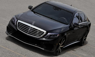 Machined and Black CSS-7 on the Mercedes-Benz S63.