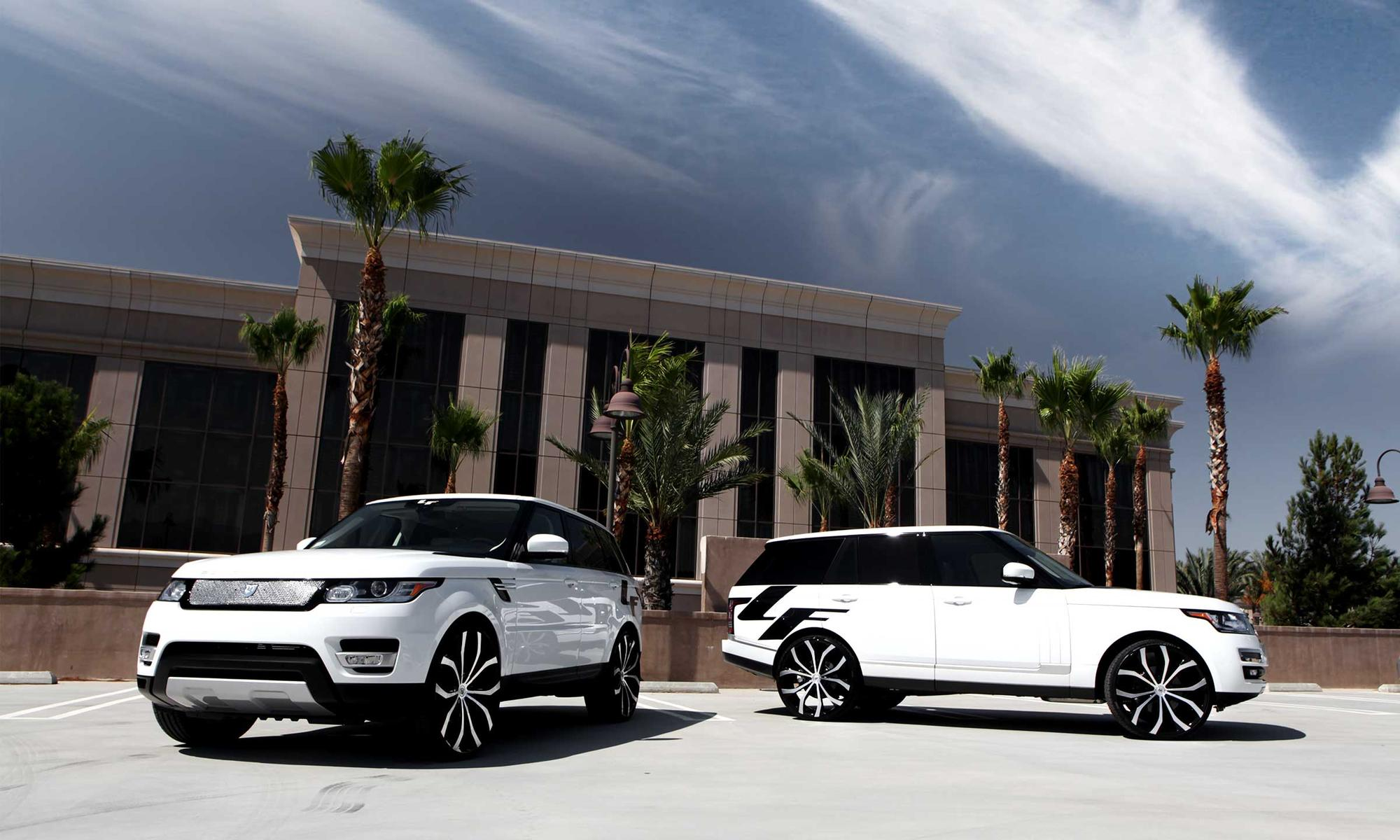 """The 2014 Range Rover Sport, with 28"""" Lust.Joined by the 2013 Range"""