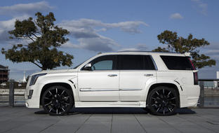 Black and Machined CSS-15 on the Cadillac Escalade.