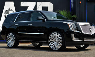 LF-731 Brushed center with stainless steel chrome lip, on the 2015 Cadillac Escalade.