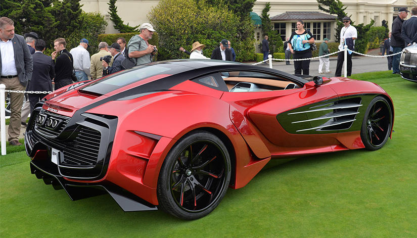 The Laraki Epitome concept car with custom LC-102 rims.