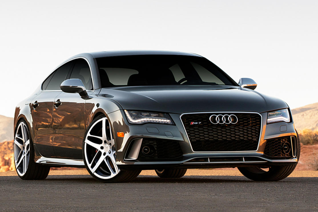 Audi RS-7 on Bavaria Silver and Machine finish