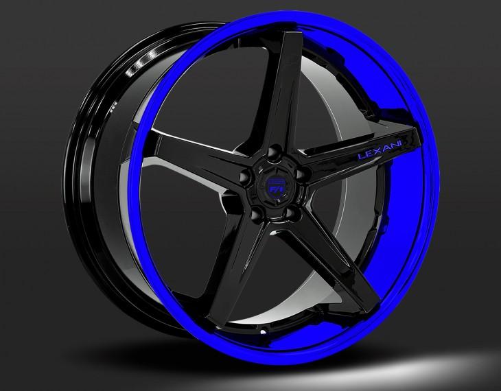 Custom Black center blue outer