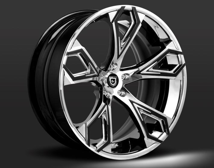 Custom - Black and chrome finish.