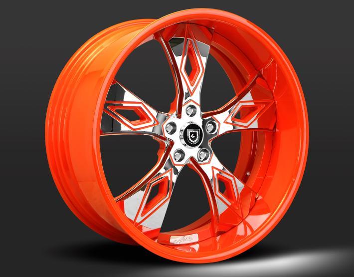 Custom - Chrome and orange finish.