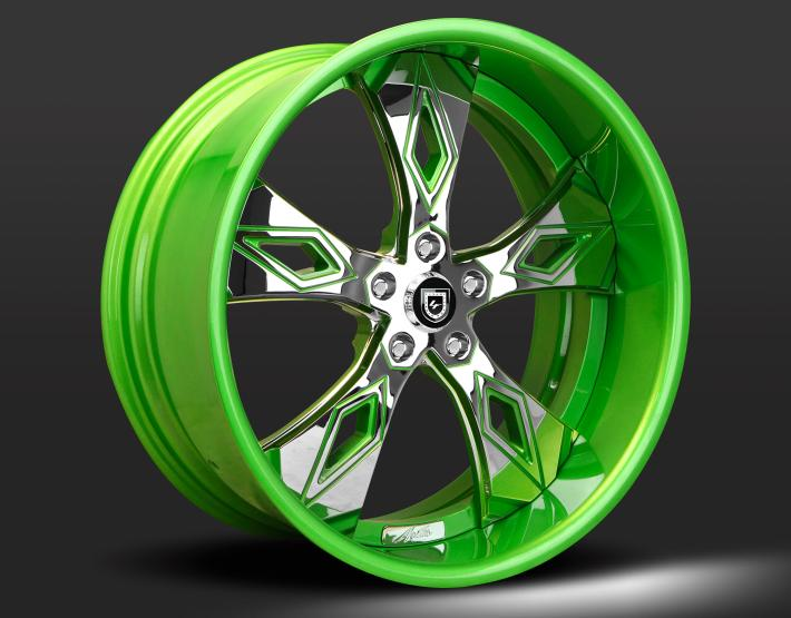 Custom - Chrome and green finish.