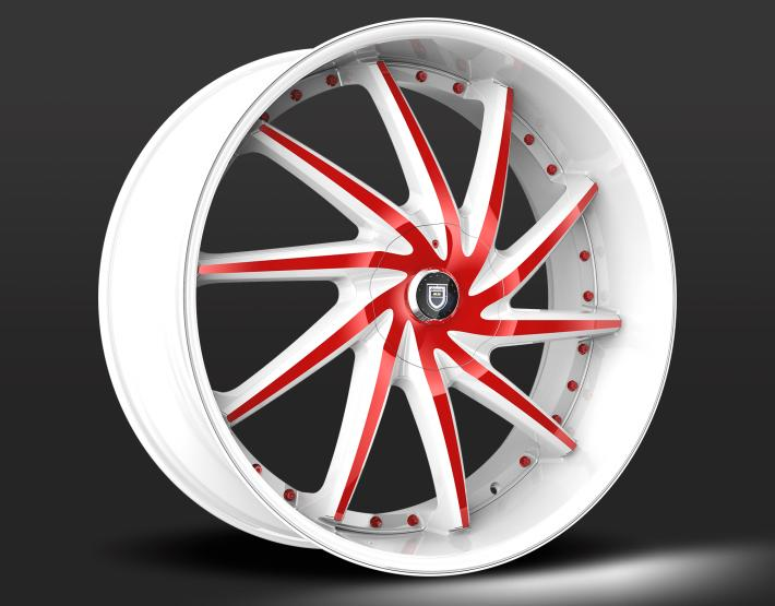 Custom - White and Red
