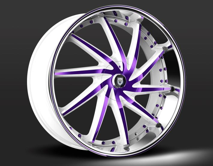 Custom - White and Purple