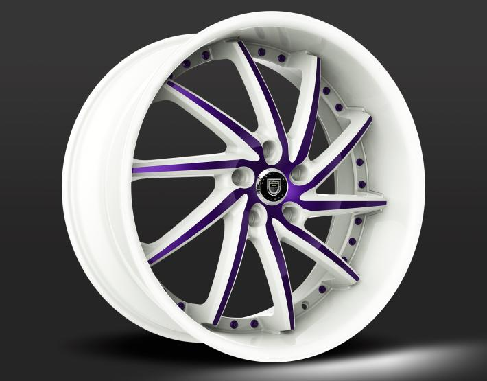 Custom - Purple and White Finish