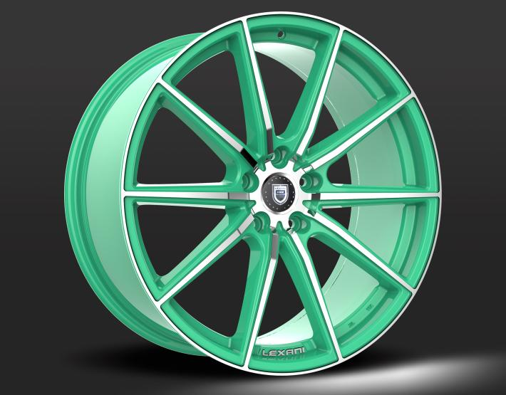 Custom - Green and Chrome Finish