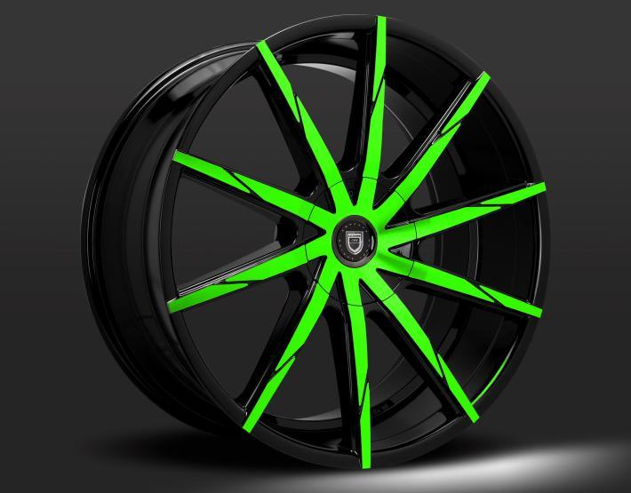Custom - Green and Black Finish