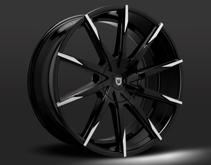 Gloss Black/Machined Tips