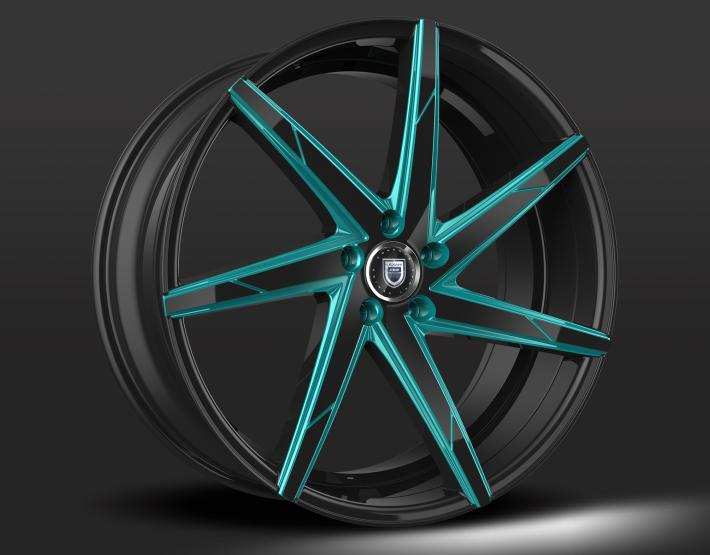Custom - Black and Blue Finish
