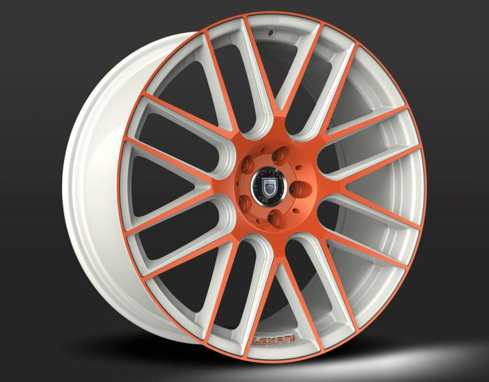 Custom - White and Orange Finish