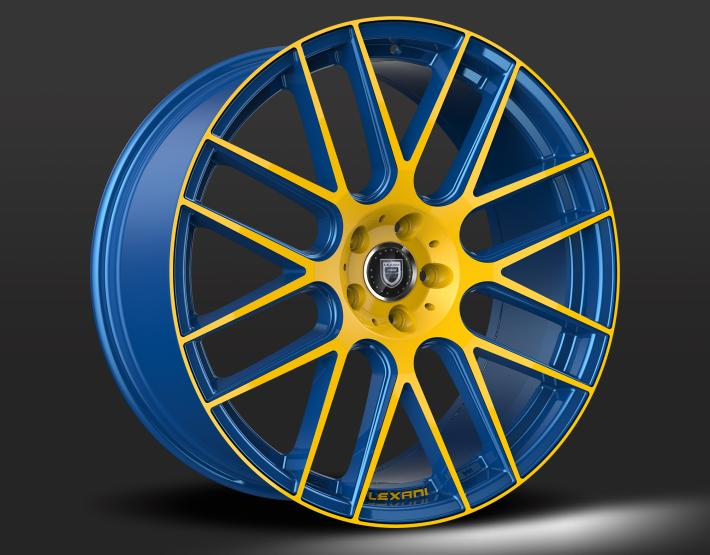Custom - Blue and Yellow Finish