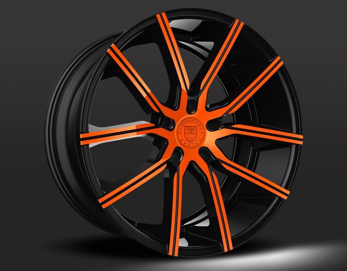 Custom - Black and Orange Finish