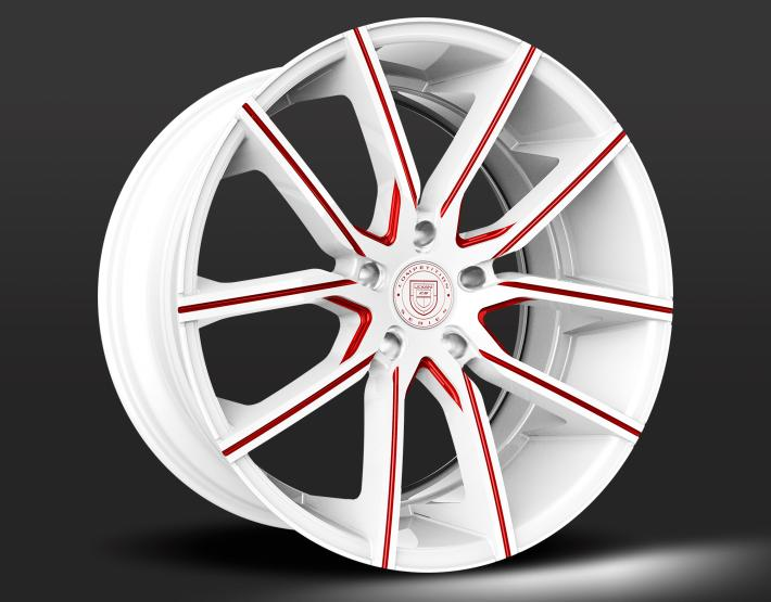 Custom - White and Red Finish