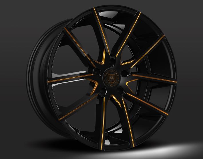 Custom - Black and Gold Finish