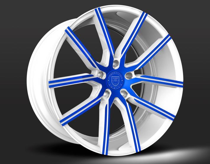 Custom - White and Blue Finish