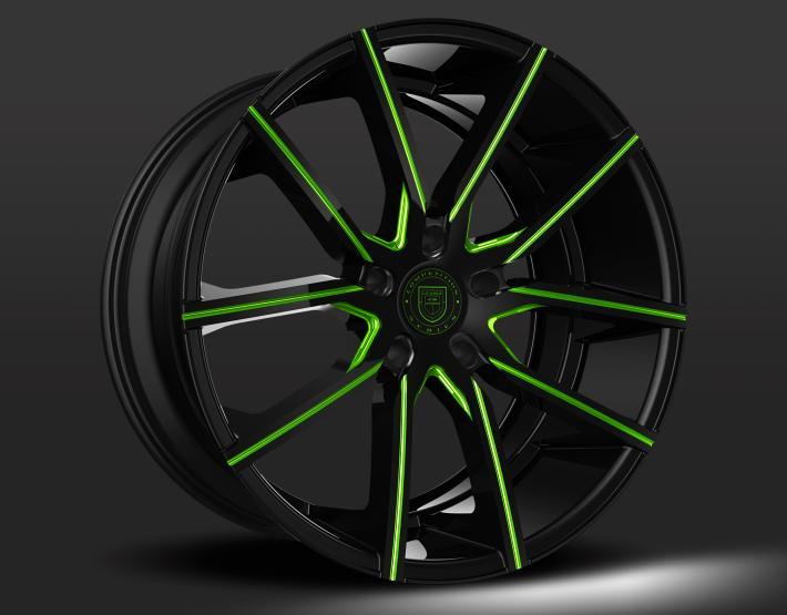 Custom - Black and Green Finish