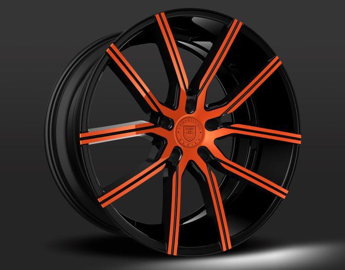 Custom - Orange and Black Finish
