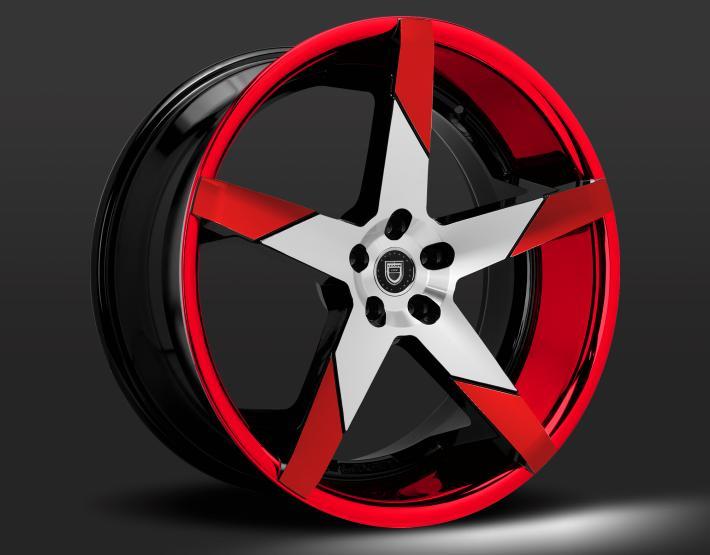 Custom - Red and machined finish.