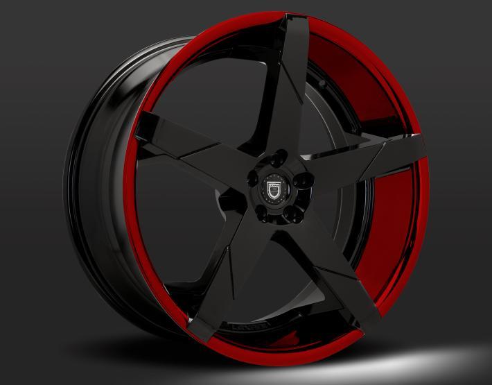 Custom - Red and Black finish.