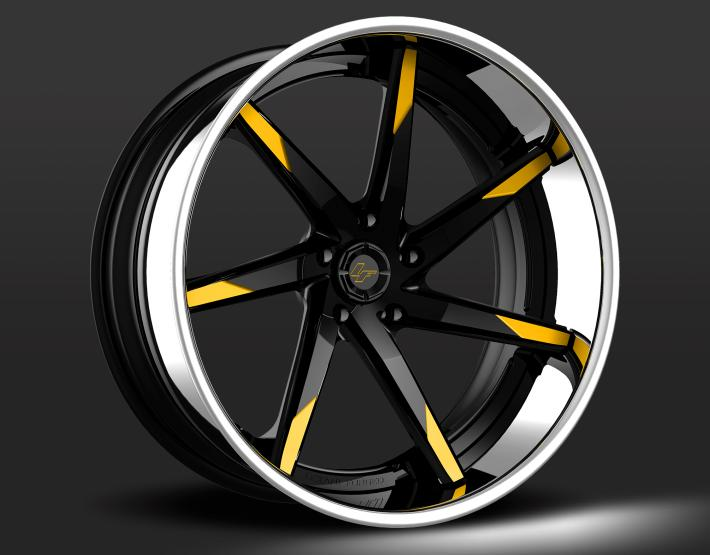 Custom - Black and Yellow Finish.