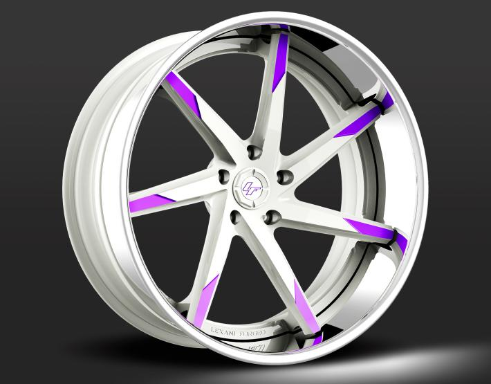 Custom - White and Purple Finish.