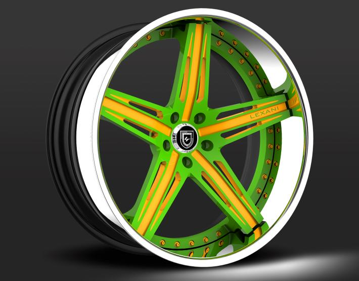 Custom - Green and Yellow finish.