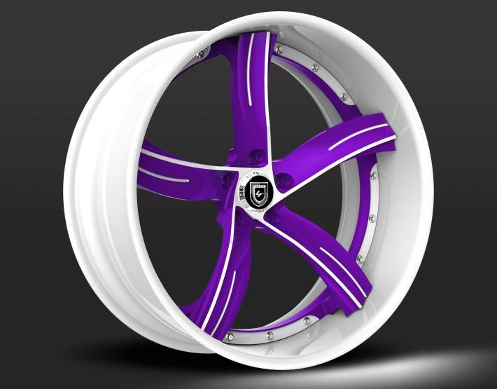 Custom - Purple and White finish.
