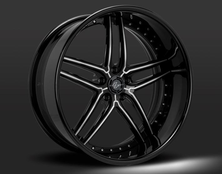 Gloss Black with Brushed Accents
