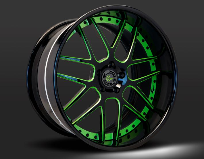 Custom - Green and Black finish.