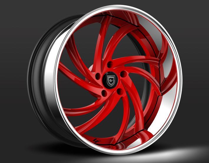 Custom - red and chrome finish.