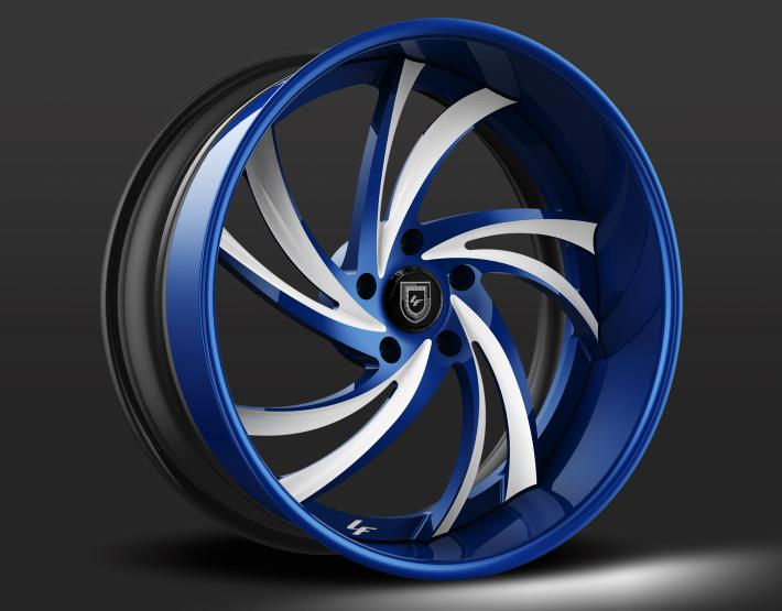 Custom - Blue and white finish.