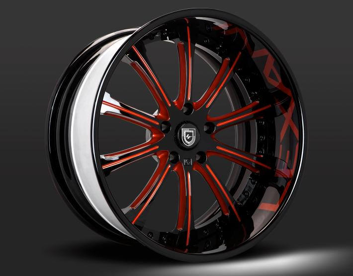 Custom - Black and Red Finish