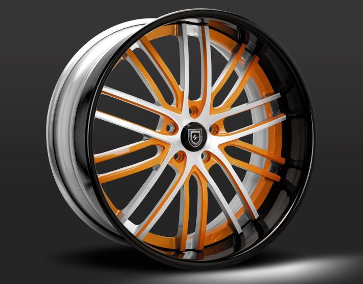 Custom - Brushed and Orange finish.