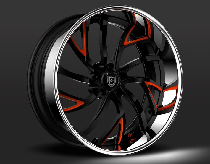 Custom - Black and Orange finish.