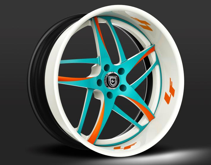 Custom - Blue, Orange, and white finish.