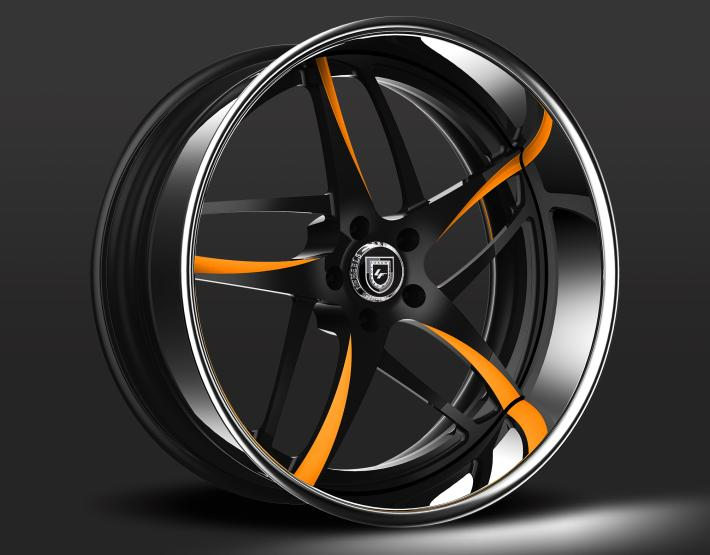 Custom - Black and orange finish.