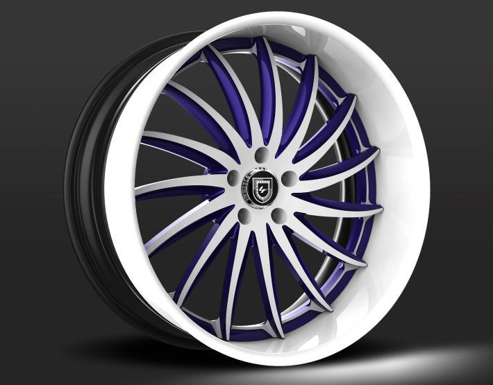 Custom - Purple and white finish.