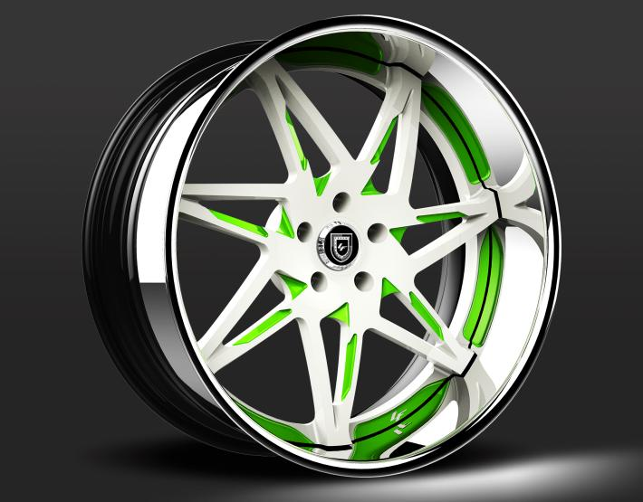 Custom - White and Green finish.