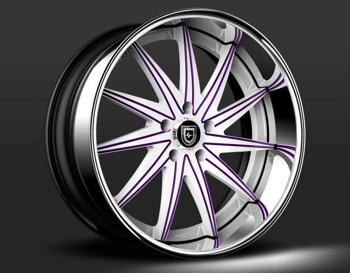 Custom - White and Purple Finish