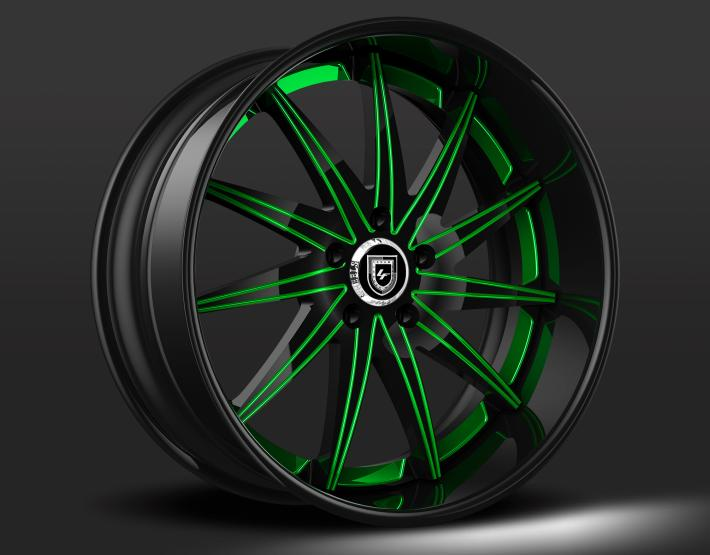 Custom - Black and Green Finish