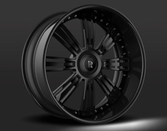 All Black with Custom Rolls Royce Cap.